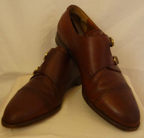 "It's on eBay: Salvatore Ferragamo double monks, size 10D — Bid is at $162 right now, with two hours or so left in the auction. ADDING: bmichael replied: thanks for blowing up my spot asshole I'm not going to feel bad about this. You're not the only one who has a saved search for ""double monks"" on eBay and there's been 13 bids in 10 days on these. Hardly discrete or under the radar. If I see double monks on eBay, then I'm going to post them here."