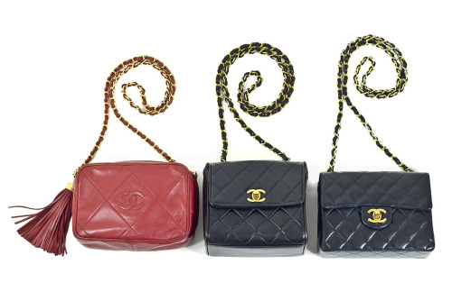 Chanel vintage minis, camera cases, beautiful quilted lambskin leather…all available on our website!