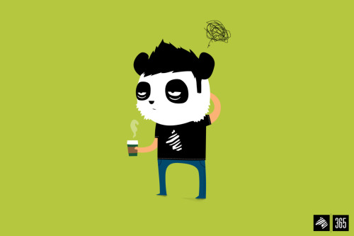 eatsleepdraw:  Panda status. (08/19/11 of my365) -THEIMAGINARYZEBRA