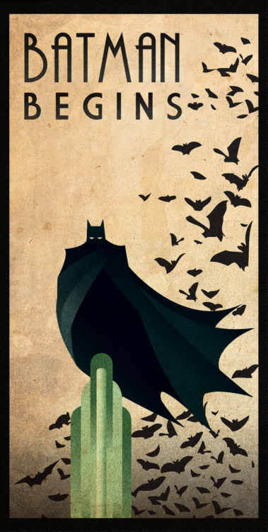 gabis2r:  BATMAN BEGINS art deco by *rodolforever