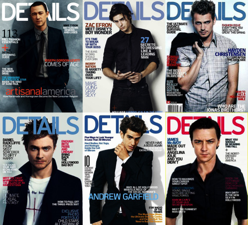 My favorite covers of Details Magazine.