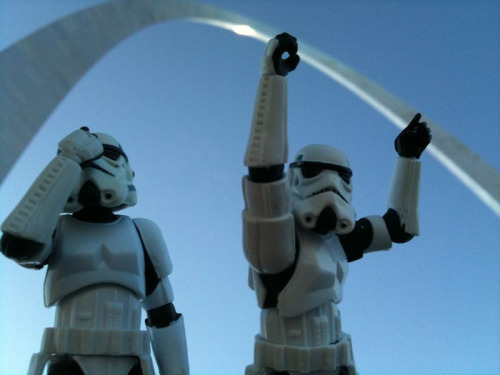 """Does it look like I'm holding up the arch?""  ""You're an idiot."""
