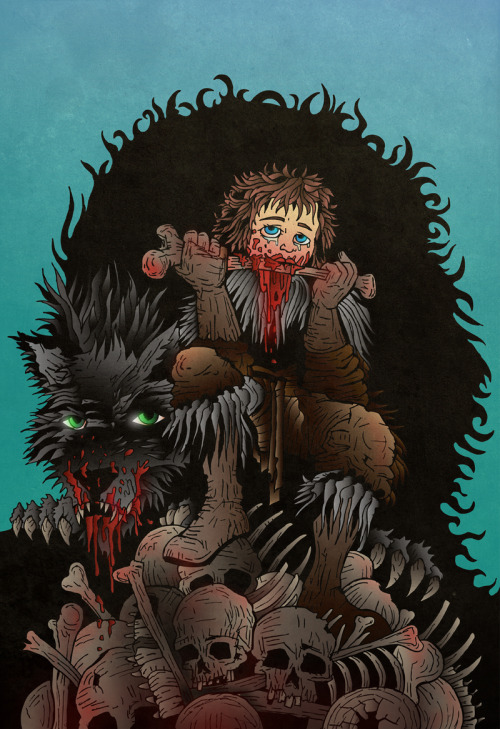 mylittleblackparade:  Rickon on Skagos by ~acazigot