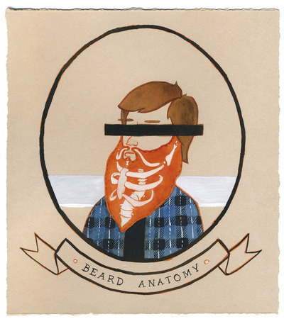 seaduction:  (via Beard Anatomy Art Print by Kyle Wilson | Society6)