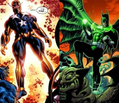 Captain Nova Vs Green Lantern Batman.  Who do you think would win?
