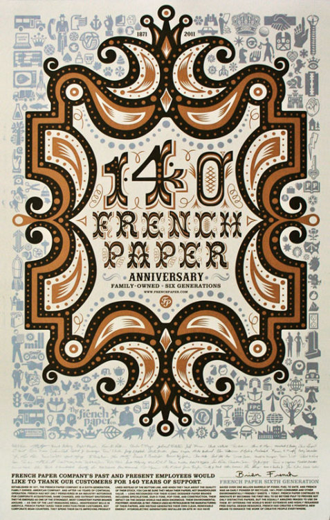 140 years French paper Anniversary   via designworklife.com