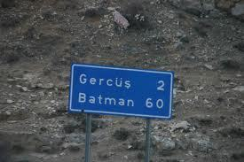 There is a city in Turkey called Batman.  Its mayor actually threatened to sue Christopher Nolan and Warner Brothers over the release of Batman Begins and The Dark Knight.  He claimed that the association with the superhero had caused numerous unsolved murders as well as a high number of female suicides. Depicted: 60 miles to Batman's hideout.
