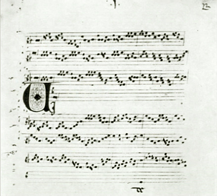 First page of the original notation for Viderunt omnes