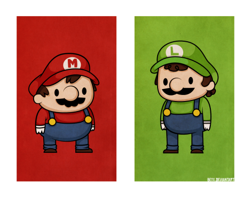 justinrampage:  The two Mushroom Kingdom heroes team up in this awesome illustration by demiurgic. Brothers don't shake hands… brothers gotta hug! Related Rampages: Pika Surf | Mario Suits | Mega Man(More) Mario Bros. by Becky / demiurgic (deviantART) Via: demiurgic
