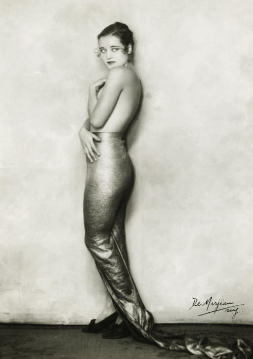 "vintagegal:  Cornelia Rogers as a topless mermaid from ""Flying High"" George White musical c. 1930"