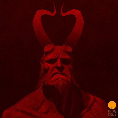 herochan:  Hellboy is ANUNG UN RAMA - by John Aslarona Tumblr | Facebook | deviantART | Twitter (created & submitted by johnaslarona)