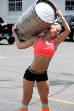 Will she make it? #beer #keg stand-n-deliver:  Strength.