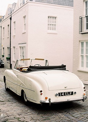 Vintage white Bentley.  Need.