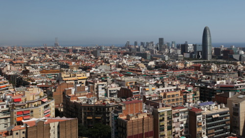 Barcelona, Spain from Segrada Familia