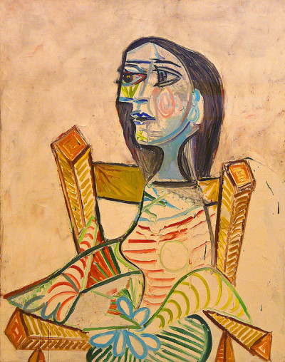 Pablo Picasso, Portrait of a woman by f_snarfel on Flickr.Pablo Picasso (1881-1973), Portrait de femme, 1938 Portrait of a woman