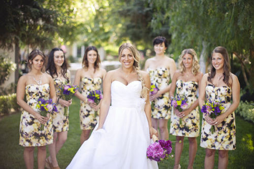 Cool bridesmaids dresses. You deserve a reblog my trendy bridal friend.