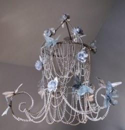 DIY Butterfly Chandelier via Mark Montano  LOVE this….may need to make it for Olive!