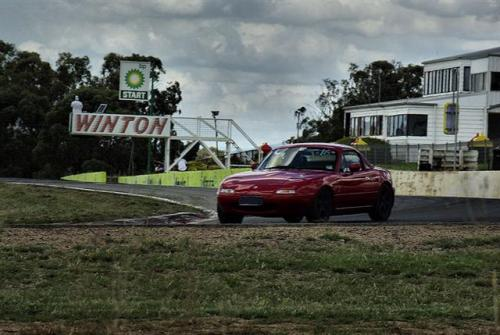 Noisy Ninja in action at Winton - a circuit we've yet to explore.  But plenty keen to do so.