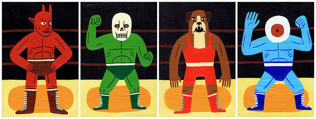 stonyslov:  Mini Wrestlers by Jack Teagle on Flickr.