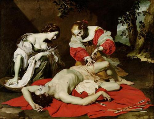The Succouring of Saint Sebastian by Nicolas Regnier c.1620-30