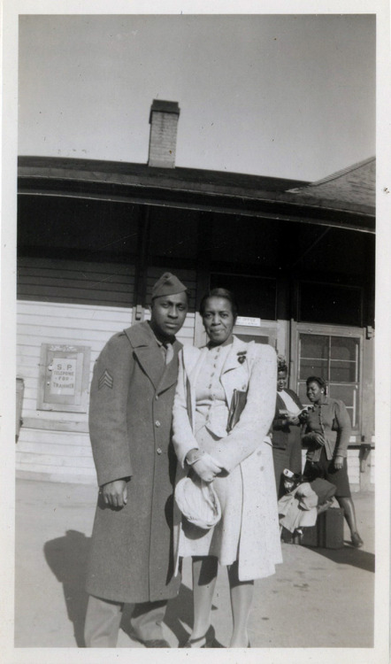 Depot Visit [PFC Stephen Thomas' Album, 1940's] [Black Soldier Series] ©WaheedPhotoArchvie, 2011