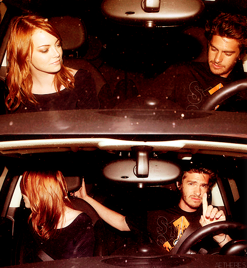 Emma Stone & Andrew Garfield → Leaving Nobu Restaurant in Malibu.  ♥_♥