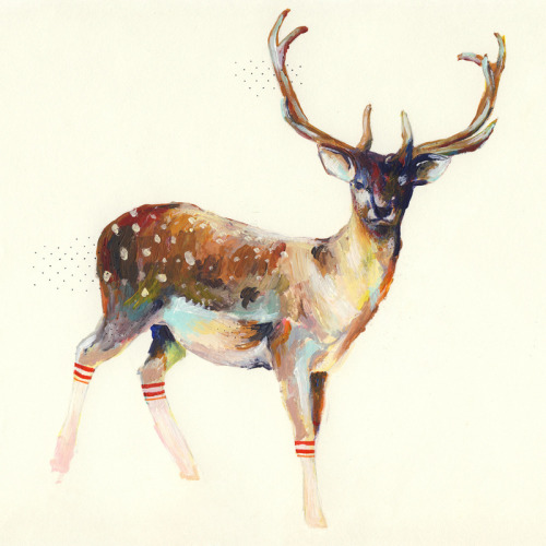 vaniaa:  A Deer Wearing Gym Socks by Charmaine Olivia
