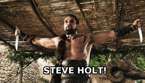 arrestedwesteros:  STEVE HOLT!  There's a whole blog of these, you're welcome.