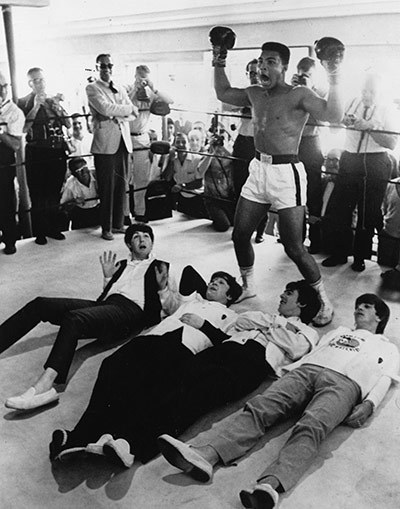 Chassius Clay, (Muhammad Ali) and The Beatles.