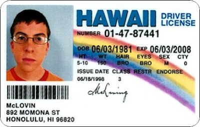 """McLovin?! Who do you think you are, Seal?!"" hahah"