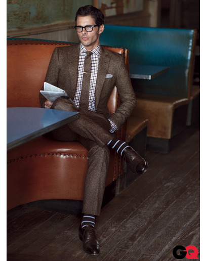 James Marsden in a suit and glasses. Day = made.