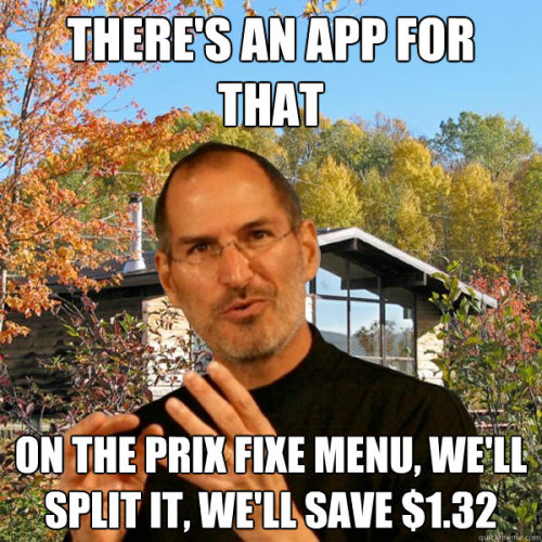 nickdouglas:  Retired Steve Jobs: The Advice Meme | Slacktory This one's wordy, but it's my personal favorite.