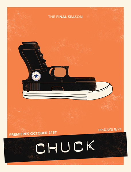 minimalmovieposters:  Chuck by Ian Wilding Prints available on Society6