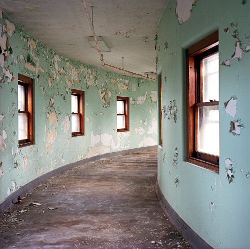 Green Hallways to Nowhere, Abandoned Hospital. www.lindsayblairbrown.com