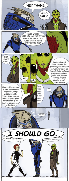 saxyjep:  Memory Slip by theJollity on DAOnly downside to being with Thane…