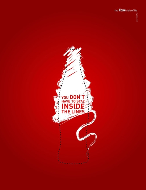 jaymug:  Coca Cola Advertising - You don't have to stay inside the lines