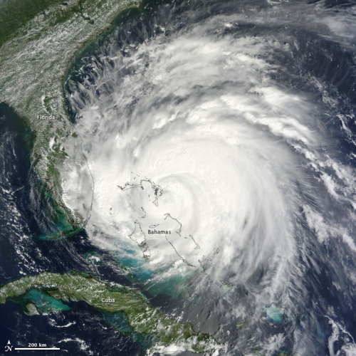 Irene over the Bahamas.