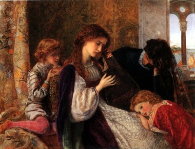 labellefilleart:  A Music Party, Arthur Foord Hughes