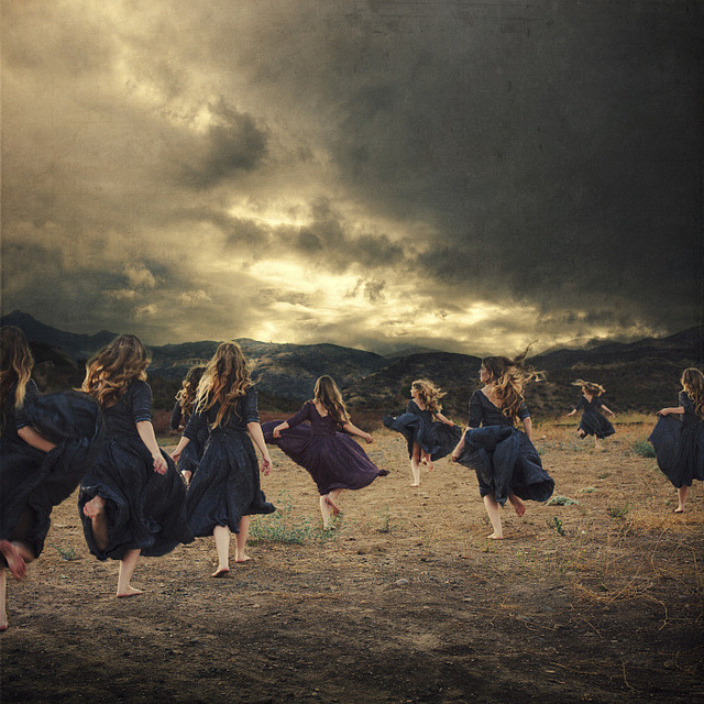 the flock by brookeshaden on Flickr.