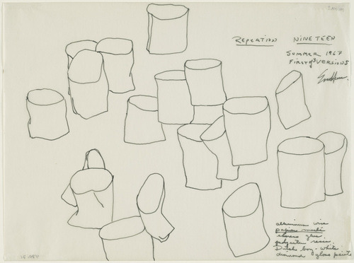 Repetition Nineteen drawing. Eva Hesse, 1967. Pen and ink MOMA