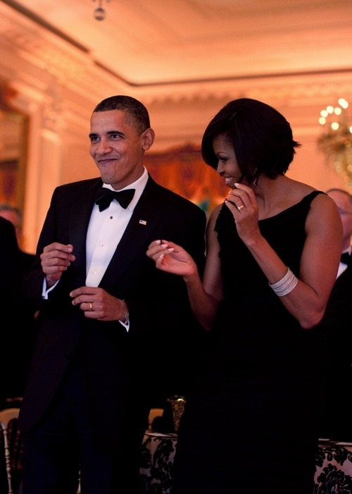 "#BlackLove [sidebar: @Barackobama looks like he's about to break out the ""Stanky Leg"" ]  Via: changelikewind:"