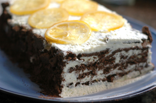 New Post Chocolate Lemon Icebox Cake