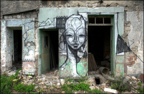 artpeoplemake:  #Sicc piece by Iemza – PIC by Romany WG. #Art #Abandoned #Reims #France