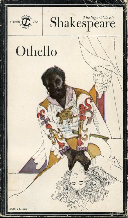 tobeshelved:  onionhuff:  An edition of Othello. Illustration by Milton Glaser.  I have a bunch of books from this set and they are soo beautiful. Duh, Milton Glaser made them.