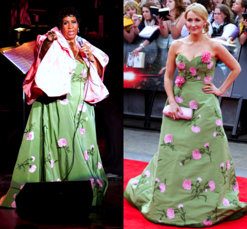 So apparently JK Rowling and Aretha Franklin share the same style? lol
