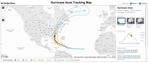 The NYTimes has a fantastic interactive hurricane tracking map. Be safe, everyone.