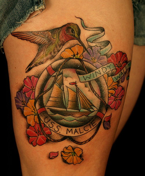 grandpa memorial tattoo  by only you tattoo on Flickr.