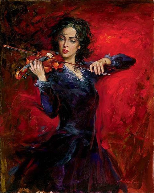 "roverpaul:  (via Best Bookmarks) ""Violin""  by  Andrew Atroshenko."