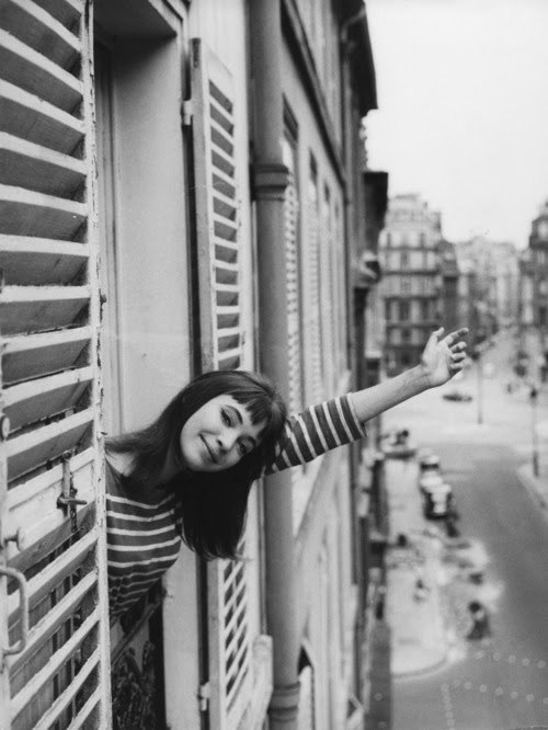 Anna Karina and stripes, what more could you want?