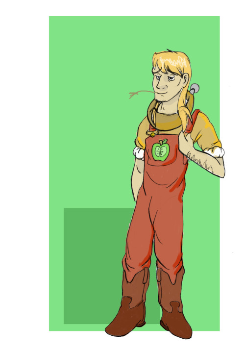 Quick cosplay design for Big Macintosh from My Little Pony: Friendship is Magic.   Big Mac is the bestest, ok.